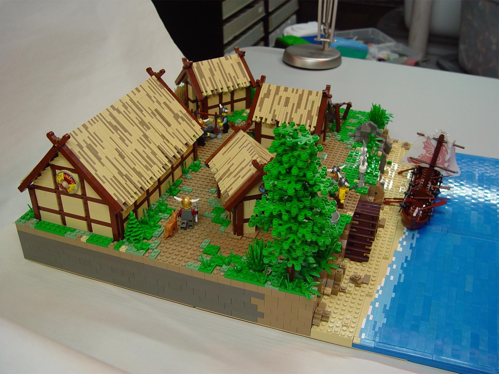 Model village houses